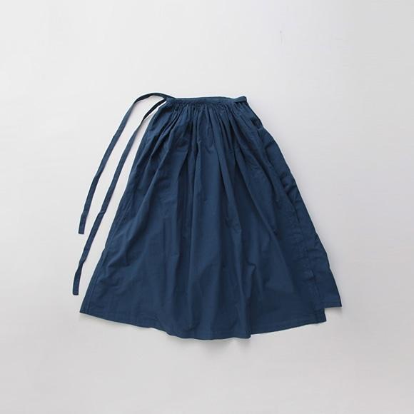 【写真】【旧仕様】POOL いろいろの服 巻きギャザーエプロン ブルー