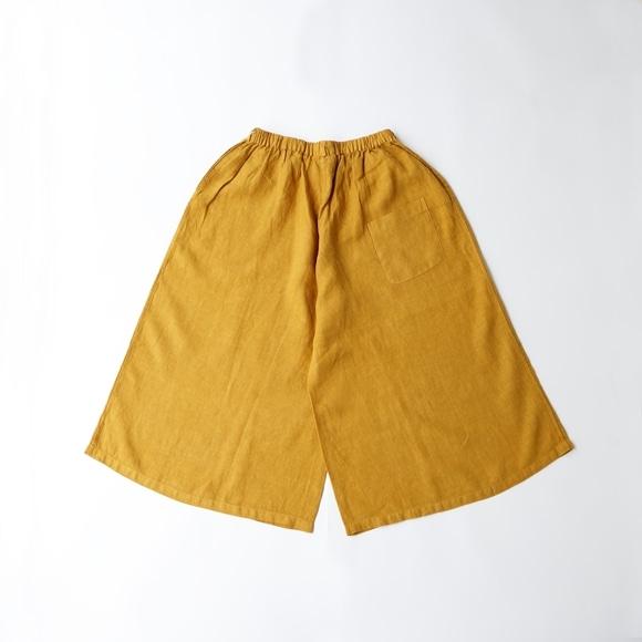 【写真】【旧仕様】POOL いろいろの服 ワイドパンツ マスタード