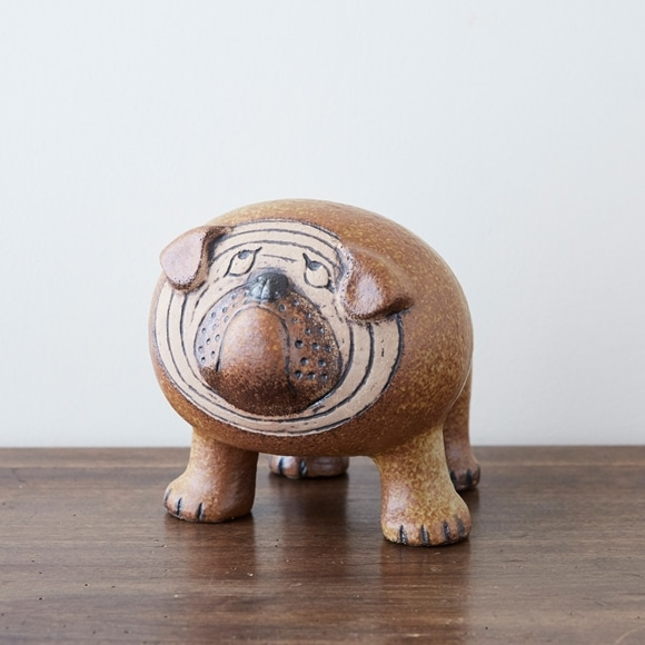 【写真】Vintage Lisa Larson Kennel Bulldog
