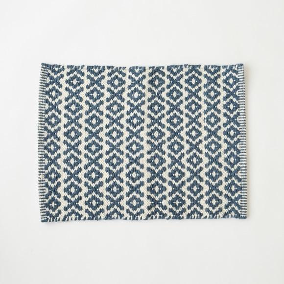 【写真】レスター ウールラグ 45×60 ブルー