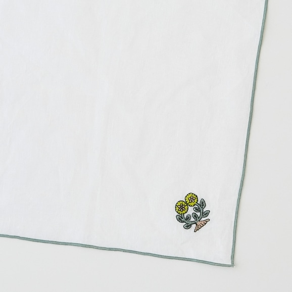 【写真】POOL Everyday ハンカチ フラワーズ ホワイト