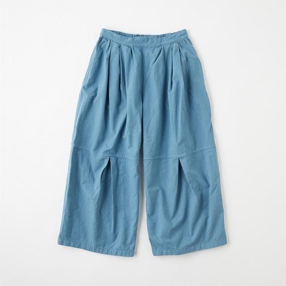 【写真】POOL いろいろの服 ニータックワイドパンツ ブルーグレー