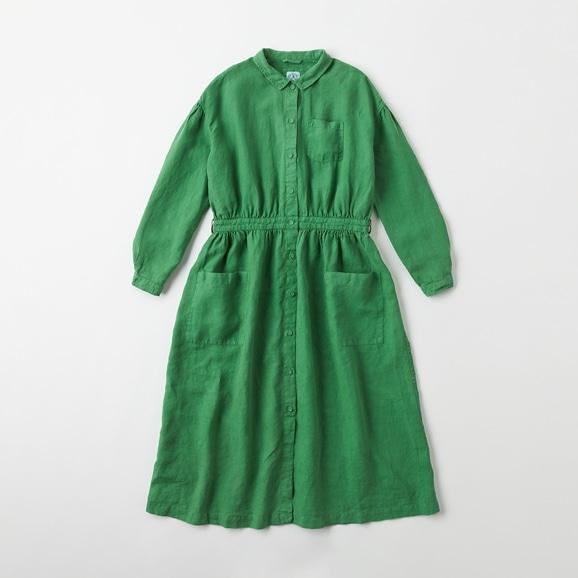 【写真】POOL いろいろの服 アトリエシャツワンピース  グラスグリーン