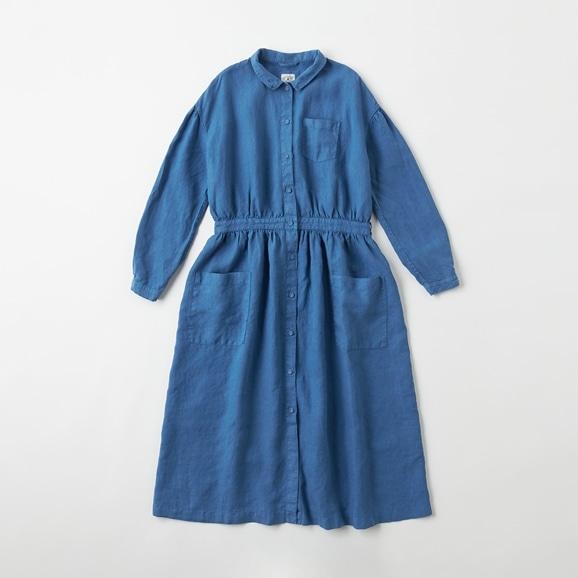 【写真】POOL いろいろの服 アトリエシャツワンピース  インディゴブルー