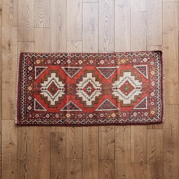 【写真】【一点物】トルコ絨毯 136×74 【1202】