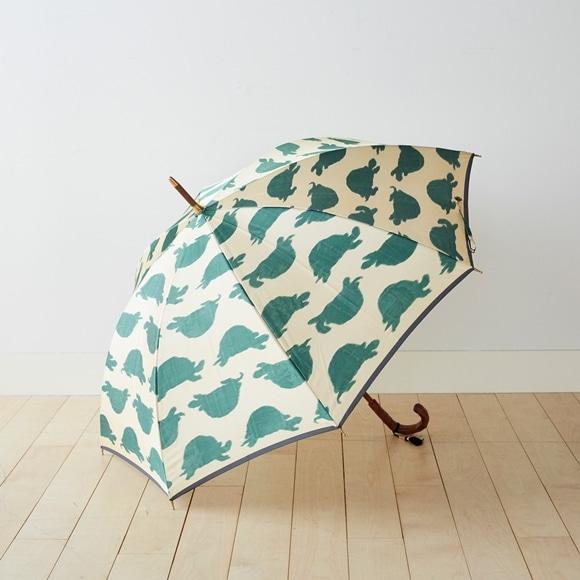 【写真】イイダ傘店 雨傘 カメ 薄黄