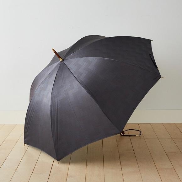 【写真】イイダ傘店 雨傘 タイル ブルーグレー