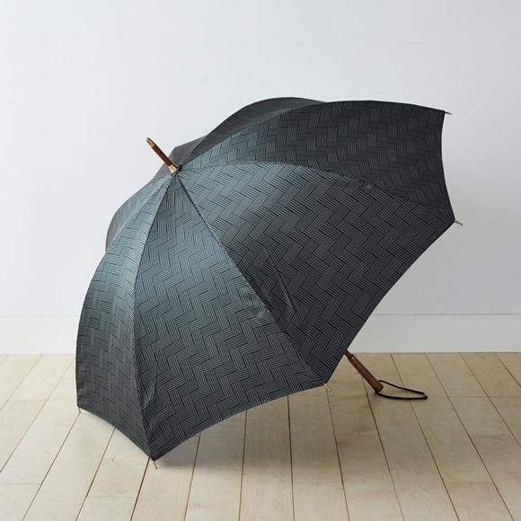 【写真】イイダ傘店 雨傘 タイル グリーン