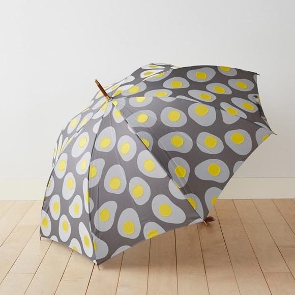 【写真】イイダ傘店 雨傘 めだまやき 黒