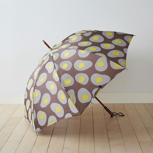 【写真】イイダ傘店 雨傘 めだまやき 茶