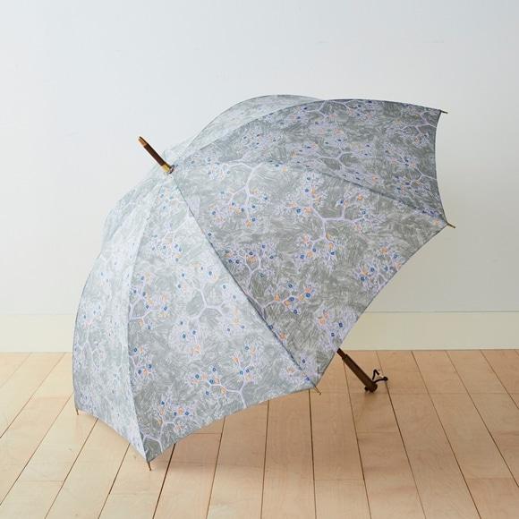 【写真】イイダ傘店 雨傘 ヤブカラシ グレー