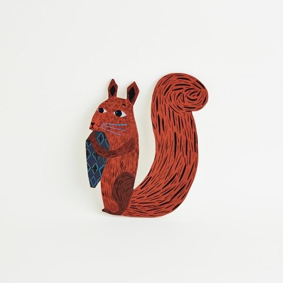 【写真】【一点物】マッティ・ピックヤムサ WOOD PAINTING Squirrel