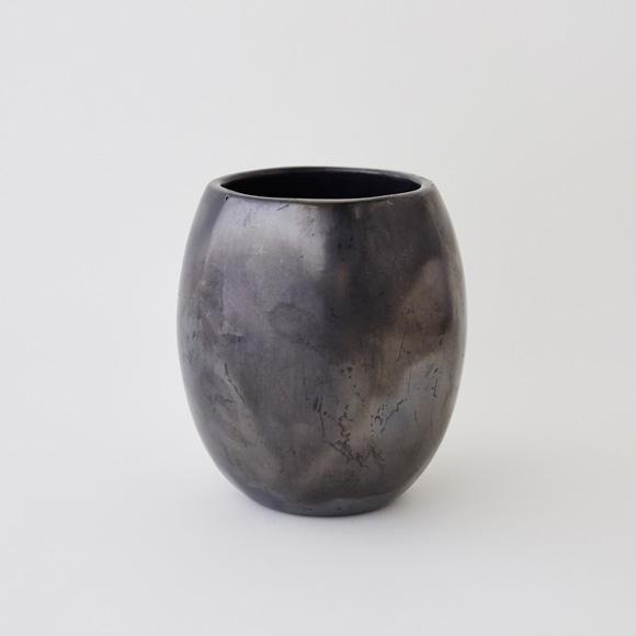 【写真】【一点物】黒陶 バロ・ネグロ デコール 19A