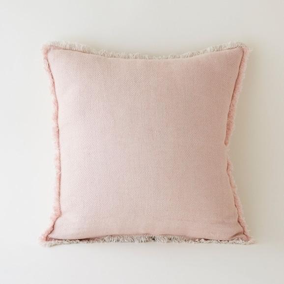 【写真】linoo リネンクッションカバー 45cm角 ピンク
