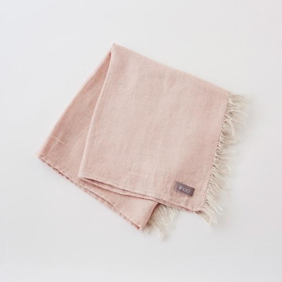 【写真】linoo リネンブランケット ピンク