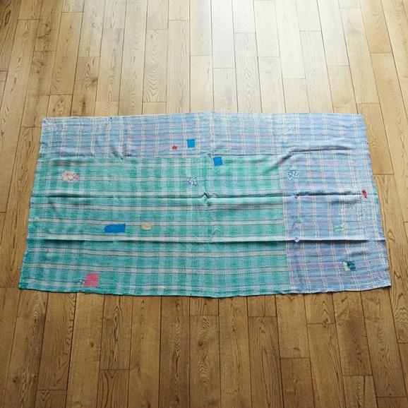 【写真】【一点物】ヴィンテージ ラリー キルト 113×198 【no3212】