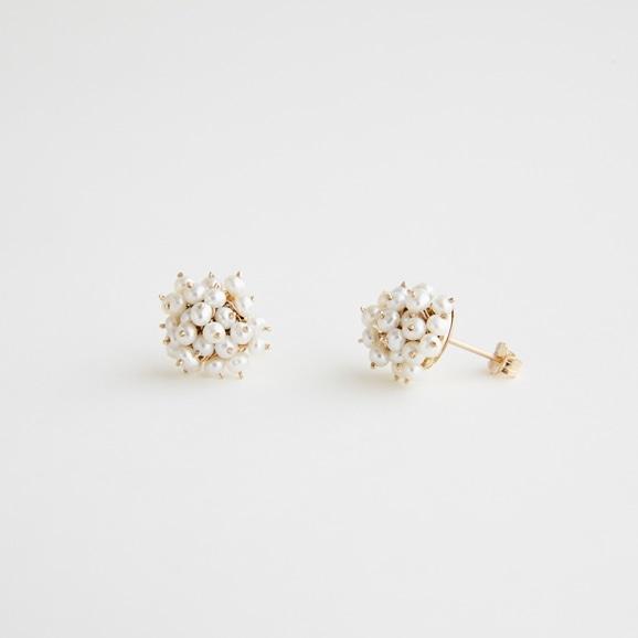 【写真】asumi bijoux shirotsumekusa bouquet mini pierce