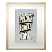 サトウ アサミ 「細かい模様のある寸胴のグラス」