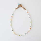 sai Necklace Shell,Carnelian,Amethyst,Blue Chalcedony & Vintage Beads