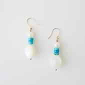sai Pierce Shell,Turquoise & Pearl