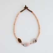 sai Necklace Pink Agate & Sunstone