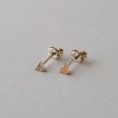 CHERRY BROWN Triangle Beads Pierce