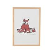 柚木 沙弥郎 「親猫子猫」