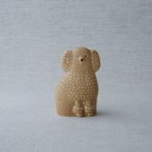 Lisa Larson Poodle Brown Mini Left