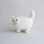 Lisa Larson Cat Moa White