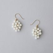 【IDEE 別注】asumi bijoux asatsuyu leaf pierce white coral