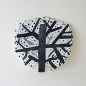 【一点物】マッティ・ピックヤムサ WOOD PAINTING Tree Of Birds