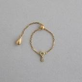 CHERRY BROWN dew Chain Ring 05